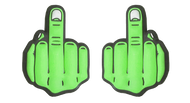 Obscene Gesture Middle Finger Tennis Dampener (Green)