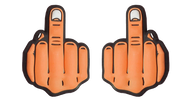 Obscene Gesture Middle Finger Tennis Dampener (Orange)