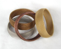 "3/4"" Wide Domed Metal Mesh Bangle"