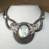 Antique Silver with White Mother of Pearl