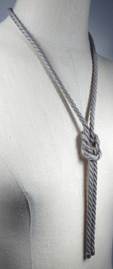 Square Knot Lariat, shown in antique silver.