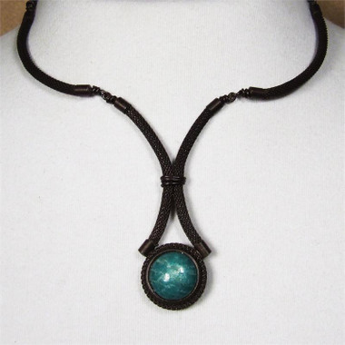 Brown with Dark Amazonite
