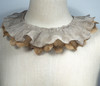Silver with Gold bottom ruffle