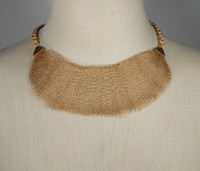 Delicate Wire Knit Half Collar