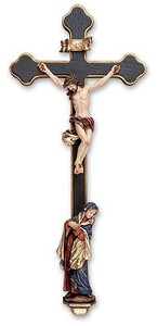 Very Large Sorrowful Mother Wall Crucifix