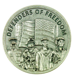 Defenders of Freedom Thank You for Serving Our Country Armed Forces Pocket Coin