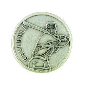 """With God All Things Are Possible"" Silver Plate Pocket Coin for Baseball Athlete"