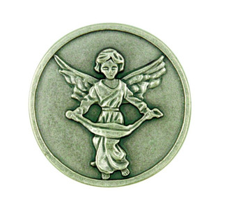 """When Life Closes a Door God Leaves a Window Open"" Guardian Angel Pocket Coin"