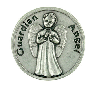 Guardian Angel Silver Plated Pocket Coin with Protect My Daughter Prayer Back