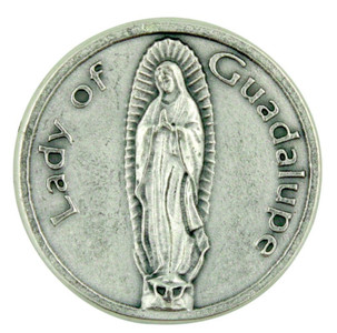 The Blessed Virgin Mary Our Lady of Guadalupe Pocket Token Coin with Prayer Back