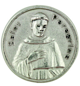 Patron of Cancer and Illness Saint Peregrine Pocket Token Coin with Prayer Back