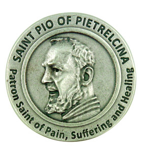 Patron of Healing Saint Pio of Pietrelcina Pocket Token Coin with Prayer Back