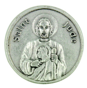 Patron of Impossible Causes Saint St Jude Pocket Token Coin with Prayer Back