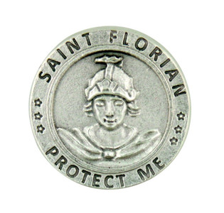 Patron of Fire Fighters Saint St Florian Pocket Token Coin with Prayer Back