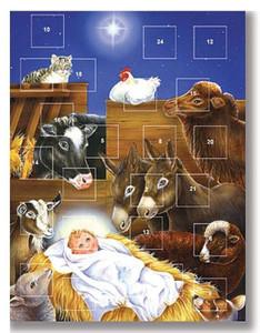 Birth of Jesus Christ in Manger Advent Christmas Calendar