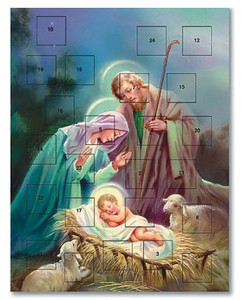 Pack of 12 - Sleep in Heavenly Peace Nativity of Christ Advent Calendar
