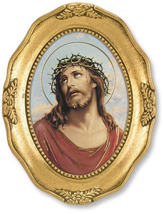 Gerffert Collection Catholic Prints in Gold Leaf Frame, 4 1/2 Inch - Ecce Homo