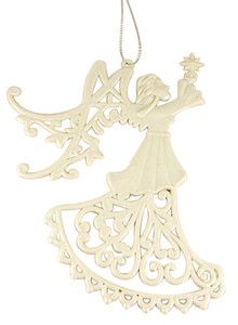 Angel with Star Christmas Tree Ornament
