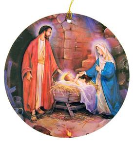 3D Holy Family Nativity Christmas Tree Ornament