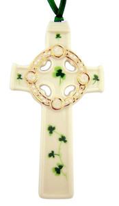 Irish Celtic High Cross Porcelain Christmas Ornament