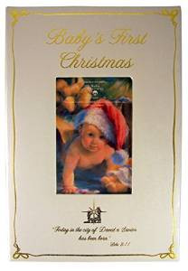 Baby's First Christmas Keepsake Box with Luke 2:11 Bible Scripture