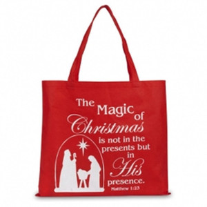 "The Magic of Christmas 14"" Red Nylon Tote Bag"