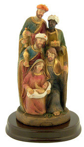 Holy Family with Three Kings 5 Inch Resin Nativity Christmas Statue Figurine
