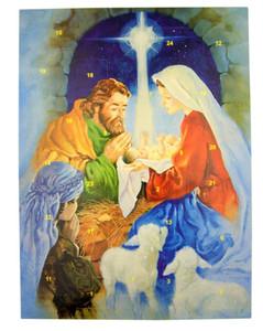 Tidings of Great Joy Cardstock 10 Advent Calendar w Die Cut Pull Tabs