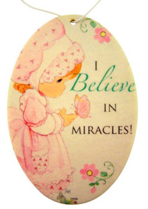 Sweet Scentiments I Believe in Miracles Air Freshener for Girl, Cinnamon Apple