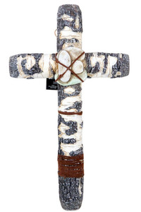 Christian River Rock 14 Inch Wall Cross for Home or Church Decor
