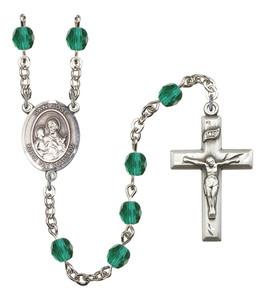 December Birthstone Prayer Bead Rosary with San Jose Centerpiece, 19 Inch