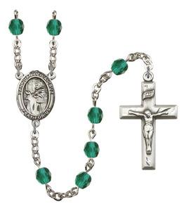 December Birthstone Prayer Bead Rosary with San Juan de la Cruz Centerpiece, 19 Inch
