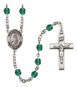 December Birthstone Prayer Bead Rosary with San Peregrino Centerpiece, 19 Inch