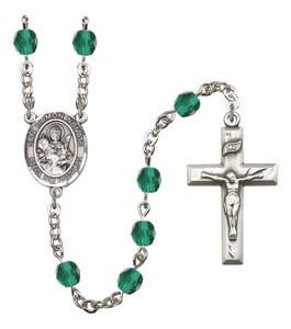 December Birthstone Prayer Bead Rosary with San Raymon Nonato Centerpiece, 19 Inch