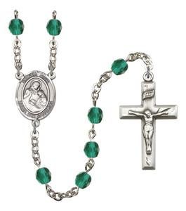 December Birthstone Prayer Bead Rosary with Santa Ana Centerpiece, 19 Inch
