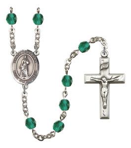 December Birthstone Prayer Bead Rosary with Santa Barbara Centerpiece, 19 Inch
