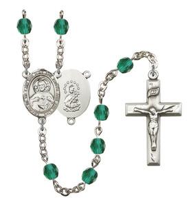 December Birthstone Prayer Bead Rosary with Scapular Centerpiece, 19 Inch