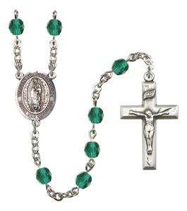 December Birthstone Prayer Bead Rosary with Virgen de Guadalupe Centerpiece, 19 Inch