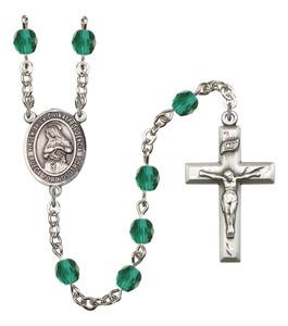 December Birthstone Prayer Bead Rosary with Virgen de la Divina Providencia Centerpiece, 19 Inch