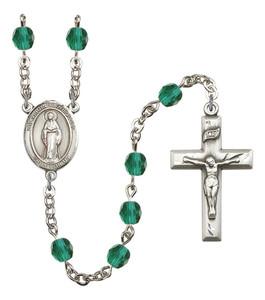 December Birthstone Prayer Bead Rosary with Virgin of the Globe Centerpiece, 19 Inch