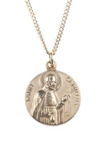 12kt Gold Filled Dime Size Saint Camillus Medal, 3/4 Inch
