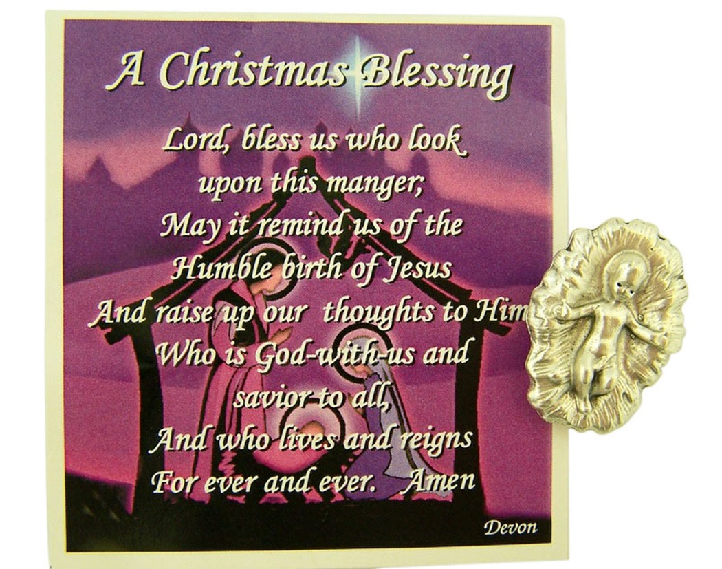 Christmas Blessing Prayer.A Christmas Blessing Holy Prayer Card With Infant Jesus Christ Medal 1 Inch