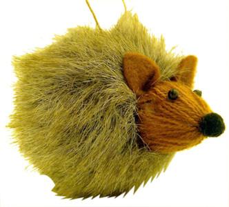 Hedgehog Ball Christmas Ornament Decoration, 3 1/2 Inch