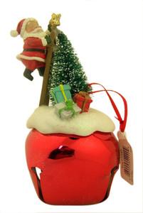 Hearts Come Home Santa on Jingle Bell Christmas Ornament, 5 1/2 Inch