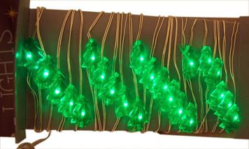 Specialty Starry Lights LED Green Christmas Tree Light String, 10 feet