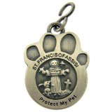 "Saint St Francis of Assisi 1 1/2"" Pewter Catholic Dog Cat Pet Protection Medal"