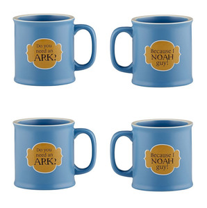 Old Testamugs Noah Guy! Ceramic Coffee Mug, 15 oz, Set of 4