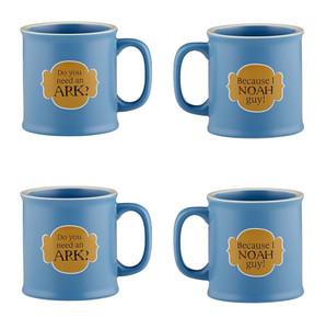 Old Testamugs Noah Guy! Ceramic Coffee Mug, 15 oz, Set of 4