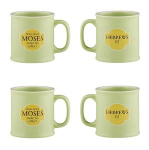 Old Testamugs Hebrews It! Ceramic Coffee Mug, 15 oz, Set of 4