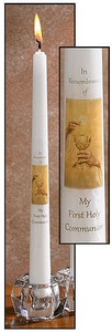 "Eternal Salvation My First Holy Communion Catholic Service Ceremony 10"" Wax Taper Candle with Decal"
